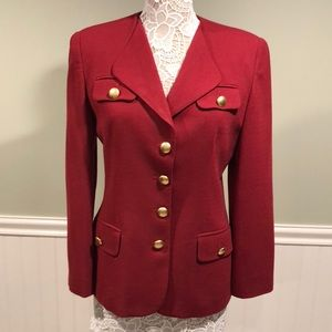 Vintage Wool Christian Dior Blazer, Military Style